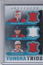 13-14 2013-14 UD ARTIFACTS OVECHKIN GREEN HOLTBY TUNDRA TRIOS JERSEY CAPITALS