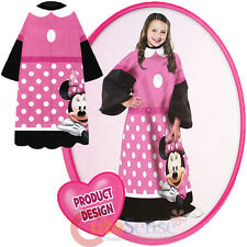 Disney Minnie Mouse Pink Bow Throw Blanket with Sleeves -Kids Size 48 x 48