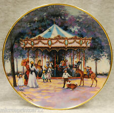 """Carousel Memories"" 1992 Franklin Mint Collectible Plate by Sandi Lebron"