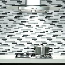 Oblong Granite Black / Silver Kitchen and Bathroom Wallpaper 89191
