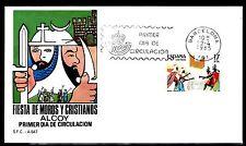 ESPAÑA SOBRE 1º DÍA 1985 2784 FIESTA MOROS Y CRISTIANOS