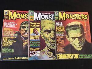 FAMOUS MONSTERS OF FILMLAND #56, 58, 59 Low Grade Copies