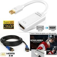 4K Mini Display Port to HDMI Cable Thunderbolt DP Cable for MacBook Pro Air Mac