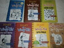Young Childrens Fiction Reading  Diary Of A Wimpy Kid bundle of 7 books HB & PB
