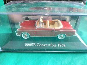 Mercédès 220 SE Convertible (1958).   Altaya Ixo. 1/43   ( Bt N°3)