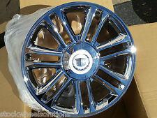 """22"""" Cadillac Escalade Platinum 4 Wheels 5358 Chrome Rims GM OE Spec Premium 2014"""
