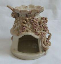❀ڿڰۣ❀ STUDIO POTTERY Fairy Cottage TEA LIGHT Candle HOLDER ~ Signed AS ❀ SALE