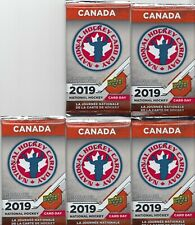 "2019 Upper Deck National Hockey Card Day (Canada) ""5"" PACK LOT Factory Sealed"