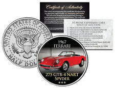 1967 FERRARI *Expensive Auction Cars* JFK Half Dollar Coin 275 GTB-4 NART SPYDER