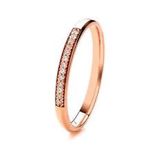 Anillos de joyería con diamantes en oro rosa de boda diamante