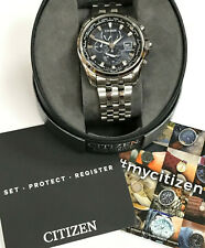 Citizen Eco-Drive AT9030-55L Radio Controlled World Time Men's Watch WARRANTY