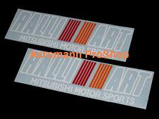 "2x 8.5"" 21.6cm RALLIART mitsubishi motor sports decal sticker Evo Pajero Montero"