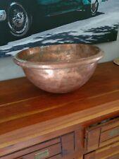 Grand Cul de poule à pâtisserie bassine en cuivre massif ancien diamètre 36 cm