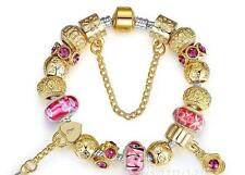 Popular 18K Gold Charm Bracelet for women With Exquisite Murano Glass AU STOCK