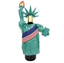 Americana NY Statue of Liberty 4th of July Patriotic Wine Bottle Cover Bag Decor
