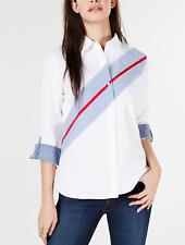 Tommy Hilfiger Women's Colorblocked Cotton Button-Down Shirt