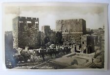 Jerusalem Tower of David and HIppicus RPPC postcard Davidsburg Judaica Israel
