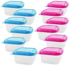 Lot de 12 Mini stockage alimentaire Contenants en plastique Boîtes Cuisine Pots ...