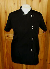 black short sleeve beauty massage therapist hairdresser beautician tunic top 16