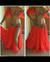 made any color Egyptian professional belly dance costume