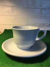 Vintage Boonton Ware Cup And Saucer In Pale Blue Color Usa