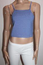 PARE Designer Blue White Stripey Sailor Crop Top Size 10-S BNWT #SV02