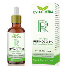 2.5% Retinol Serum 2 oz with Hyaluronic Acid & Vitamin C - Anti Aging