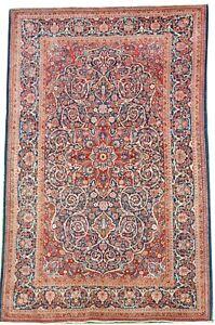 Oriental carpet handmade Kshan wool rug in very good condition size 6.6 x 4.2 FT