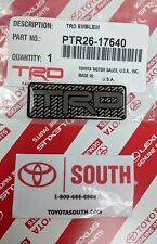 NEW Genuine Toyota TRD Logo Emblem Toyota Racing Carbon Fiber Look, Qty 1