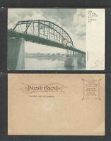 1900s FREE BRIDGE OVER ARKANSAS RIVER LITTLE ROCK UDB UNDIVIDED BACK POSTCARD