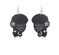 New Design African Head Wrap Turban Shaped Wooden Earrings For Women