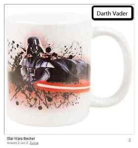 1 STAR WARS Becher Darth Vader Keramik Tasse Kaffeetasse 320 ml NEU Top Gifts