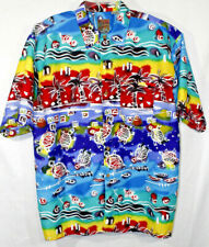 Pineapple Connection Shirt Large Short Sleeve Button Front Hawaiian Multicolors