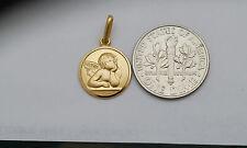 10K gold Guardian Angel medal / pendant