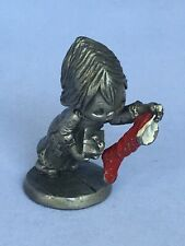 Vintage Betsey Clark Pewter Figurine-Girl with Empty Stocking-Rare-1983-Eb213