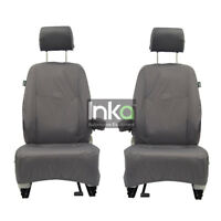 Vauxhall Vivaro Front Inka Fully Tailored Waterproof Seat Covers Grey MY14-16