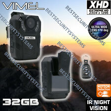 Body Camera Extreme XHD 1296P Police Security Guard Recorder PTT Pocket Night