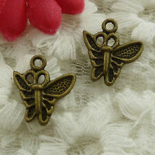 free ship 150 pieces bronze plated butterfly charms 15x14mm #3103