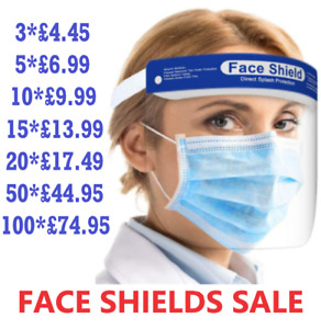 FACE SHIELD FULL FACE VISOR PROTECTION MASK PPE SHIELD ! GREAT VALUE !