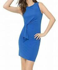 Michael Kors Womens Side Tie Crew Neck Cocktail Dress Blue L