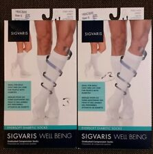 Sigvaris Well Being Lot of 2 Eversoft White Compression Socks - Small - New
