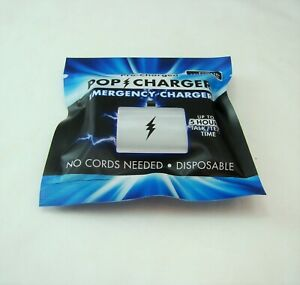 Zorbitz Pre-Charged POP CHARGER Emergency Charger (iPhone Port) NEW, READ