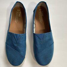 Toms Slip on Sneaker - Blue Malange Ripstop Avalon Womens size 10W