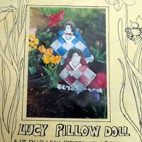 VTG Osage Country Lucy Pillow Doll Kit Clothing Quilt Pattern Virginia Robertson