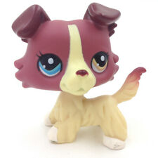 LPS Plum Cream Collie Dog Littlest Pet Shop 1262 Animals Puppy Kids Toys Gift