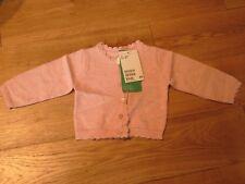 H&M per neonate fine-Knit Cotone Scintillante Bottoni Cardigan 0-1 mese nuovo con etichetta LT ROSA