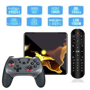X99 Max+ Android 9.0 Quad Core 128GB/4GB Bluetooth Dual WiFi 5G Gaming TV Box
