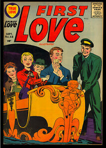 First Love Illustrated #68 Kirby Cover Art High Grade File Copy Comic 1956 VF+