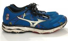Mizuno Wave Inspire 10 Blue Running Shoes Men Size 12 SH