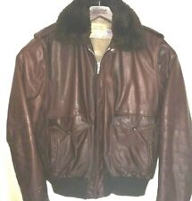 Vtg Schott 674 Flight Leather Jacket RARE AVIATOR Bomber MILITARY Motorcycle 42L